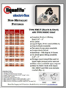 Electri-flex Nonmetallic Conduit and Connector Spec Sheet